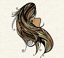 Tapa Hair - Brown/Gold Zipped Hoodie