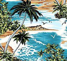 Diamond Head Scenic Hawaiian Aloha Shirt Print - Multi by DriveIndustries
