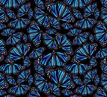 Blue Butterflies by TinaGraphics