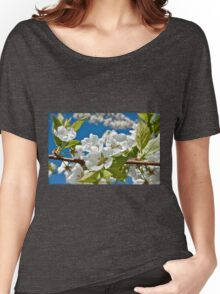 Plum Tree Blossoms Women's Relaxed Fit T-Shirt