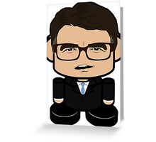 Rick Perry Politico'bot Toy Robot 1.0 Greeting Card