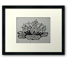 Lotus Adorned Framed Print
