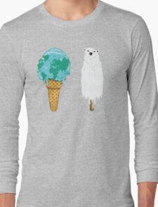 Global Warming Ice Cream Long Sleeve T-Shirt