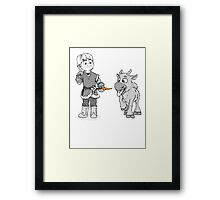 Reindeer are better than people Framed Print