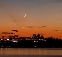 Twilight of the Bay Bridge by Jon  Johnson