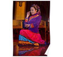 Kneeling Dancer Poster