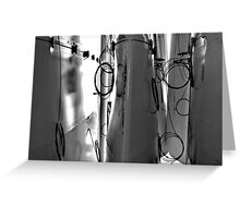 circles of wires Greeting Card