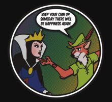Evil Queen, Robin Hood and the pursuit of Happiness T-Shirt