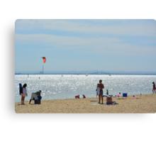 WINDSURFING AT BRIGHTON BEACH Canvas Print