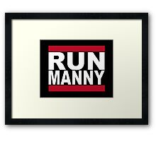 Run Manny T Shirt for Floyd Mayweather Fans Framed Print