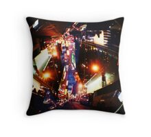 times square lomo fun Throw Pillow