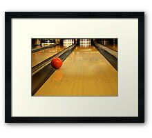 Gutter Ball Framed Print