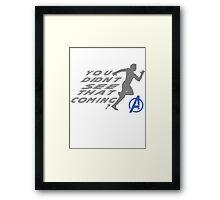 Quicksilver in Avengers Framed Print