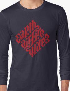 Earth, Air, Fire, Water - Illuminati Ambigram Long Sleeve T-Shirt