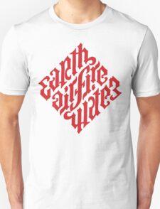 Earth, Air, Fire, Water - Illuminati Ambigram Unisex T-Shirt