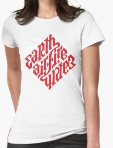 Earth, Air, Fire, Water - Illuminati Ambigram Womens Fitted T-Shirt