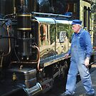 Getting Going.  Puffing Billy.  by Lozzar Flowers & Art