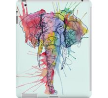Colorful Watercolor and Ink Elephant iPad Case/Skin