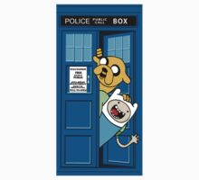 Adventure of time: Police Box Call Kids Clothes