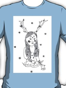 Nature Girl Illustration T-Shirt