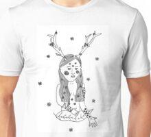 Nature Girl Illustration Unisex T-Shirt