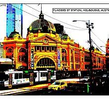 Flinders St Station Comicography by djskinnylatte