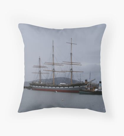 The Ship & The Tugboat Throw Pillow
