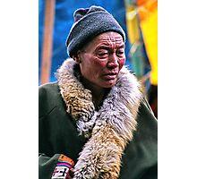 cool. tibetan man, northern india Photographic Print