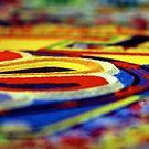 sand mandala detail. christchurch, aotearoa  by tim buckley | bodhiimages