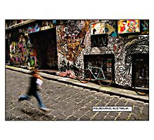 Alleyway, Melbourne Comicography Photographic Print