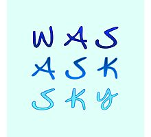 Was Ask Sky Photographic Print