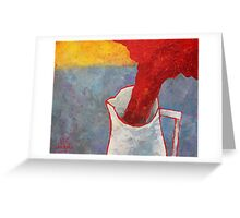 White Pitcher Greeting Card