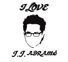 I Love JJ Abram  Photographic Print