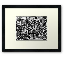 Gonalez Abstract Expression Black and White Framed Print