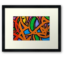 Graffiti, Hosier Lane Framed Print