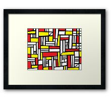 Wurtz Abstract Expression Yellow Red Black Framed Print