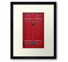 221 Baker Street (red) Framed Print