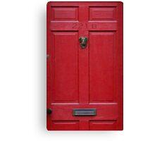 221 Baker Street (red) Canvas Print