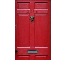 221 Baker Street (red) Photographic Print