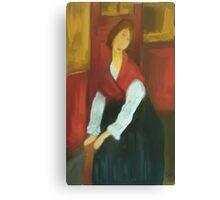 Jeanne Hebuterne/ after Modigilani Canvas Print