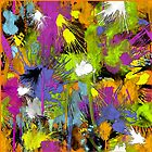 Colorful Paint Splatters by TinaGraphics
