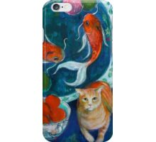 Beijing And The Koi Painting iPhone Case/Skin