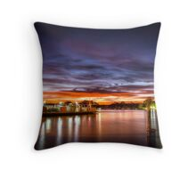 Sunrise ferry Throw Pillow