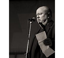Speaker at Mayday Rally Photographic Print
