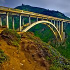 Bixby Bridge near Big Sur by photosbyflood