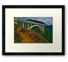Bixby Bridge near Big Sur Framed Print