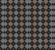 Argyle Print in Brown, Black and Silver by Doreen Erhardt