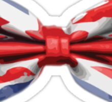 Union Jack Bow Tie Sticker