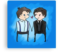Jack And Ianto Chibis Canvas Print
