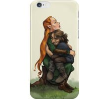 Kiliel: Tauriel and Kili from the Hobbit on a Tree Stump iPhone Case/Skin